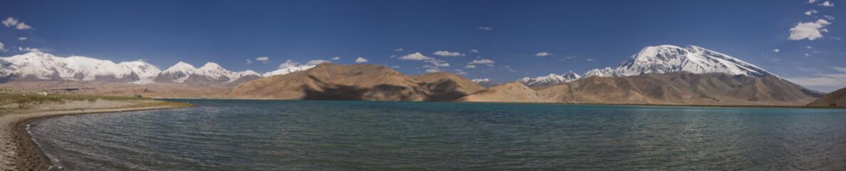 karakol lake and muztagh ata,xingjiang province china