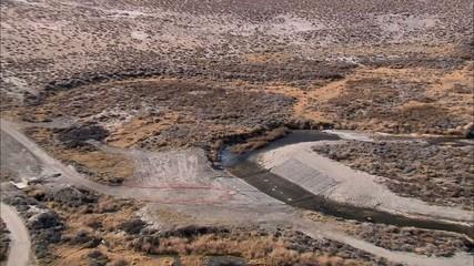 Desert Dry Mountain Range
