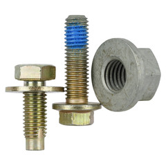 Two special bolts and one nut