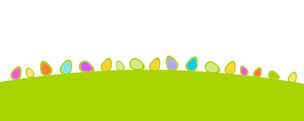 Wiese Ostern Eier Bunt Hügel