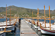 Boats at El Port de la Selva in Spain