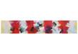 canvas print picture - Schmaler Streifen rot weiß mit Zacken