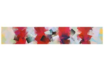 Schmaler Streifen rot weiß mit Zacken
