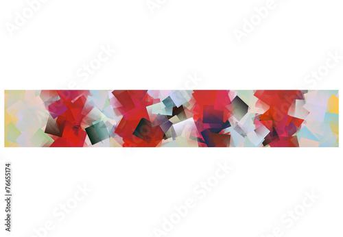 canvas print picture Schmaler Streifen rot weiß mit Zacken