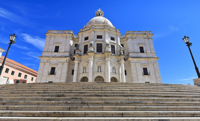 Famous National Pantheon in Lisbon, Portugal.