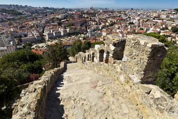 Lisbon, Portugal, The Castelo de Sao Jorge.