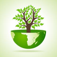 Tree inside the earth- vector illustration