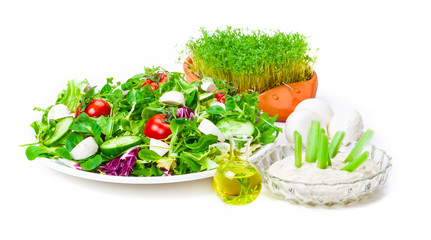 Salat, Dressing, Öl