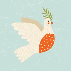 Cartoon dove of peace