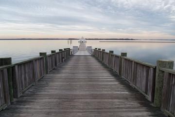 wooden path on Chesapeake Bay