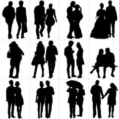 Silhouettes de couples