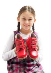 child shows shoes