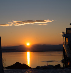sunset lake champlain