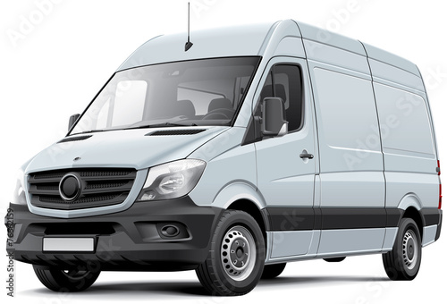 European delivery van poster