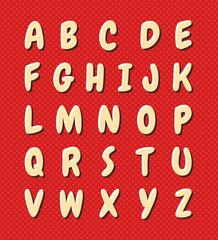 Nice cartoon alphabet. Uppercase