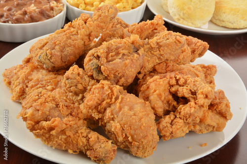 Plexiglas Kruidenierswinkel Fried chicken