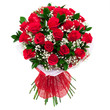 canvas print picture - Bouquet of red roses isolated