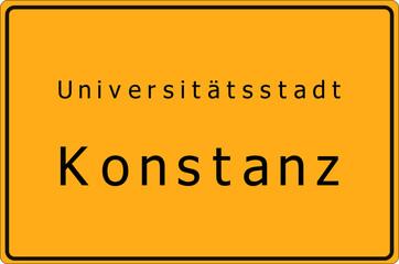 Konstanz - Universitätsstadt - Ortsschild