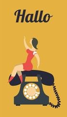 sit on the phone