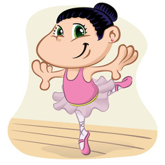 Character child ballet dancing
