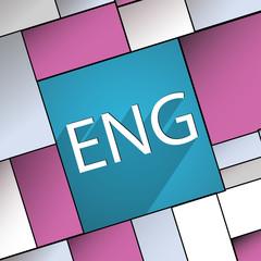 English icon symbol Flat modern web design with