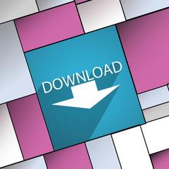 Download icon symbol Flat modern web design wi