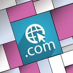 Domain COM icon symbol Flat modern web desig