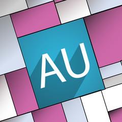 australia icon symbol Flat modern web design with