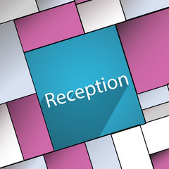 Reception icon symbol Flat modern web design wi