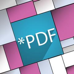 PDF file extension icon symbol Flat modern web d