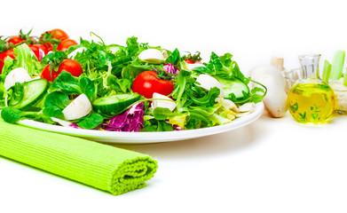 Frischer Salat, Öl