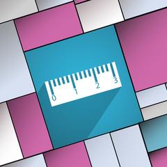 Ruler icon symbol Flat modern web design with lo