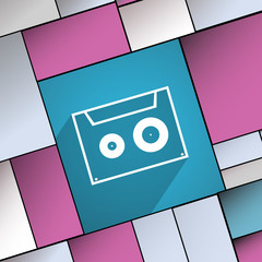 cassette icon symbol Flat modern web design with