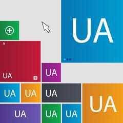 Ukraine sign icon. symbol. UA navigation. Set of c