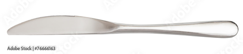 metal serving knife - cutlery isolated on white - 76666163