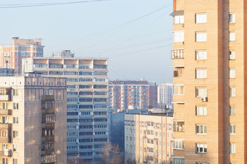 residential quarter in winter morning