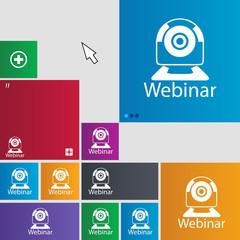 Webinar web camera sign icon. Online Web-study
