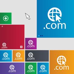 Domain COM sign icon. Top-level internet domain