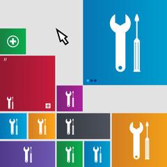 Repair tool sign icon. Service symbol. screwdriver