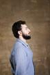 Bearded man profile