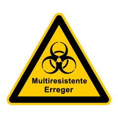 wso106 WarnSchildOrange - Multiresistente Erreger - g3031