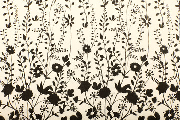 Fabric with a floral  pattern