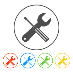 Repair Icon. Service  simbol. Tools singn. Flat design style.