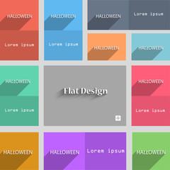 Halloween sign icon. Halloween-party symbol. Set