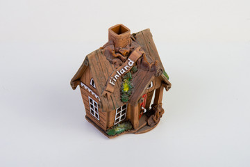 Finnish house made of porcelain