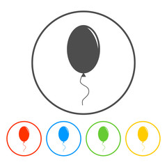 Balloon sign icon.