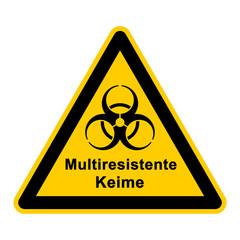 wso108 WarnSchildOrange - Multiresistente Keime - g3033
