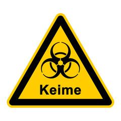 wso109 WarnSchildOrange - Keime - g3034