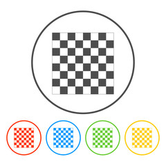 wooden chess board. flat view from top