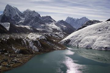 Lake Gokyo in Himalayas, Nepal